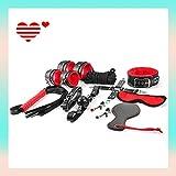 Set de felpa Traje de cuero Kit de cuero Conjunto de encuadernación especial incluido Ajustable con felpa suave para ella y para ti