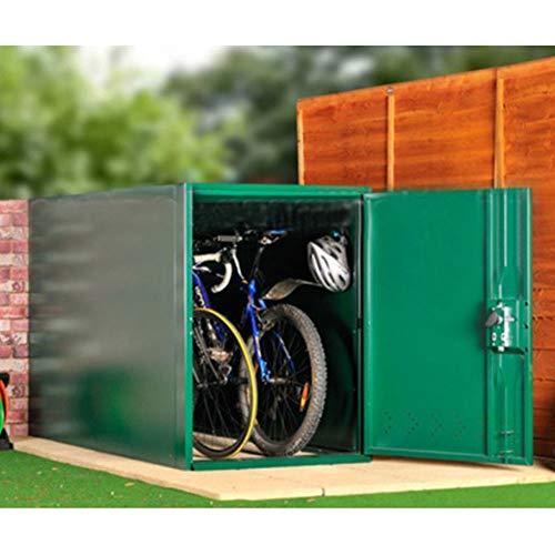 Asgard Metal Outdoor Double Bike Storage Unit Green
