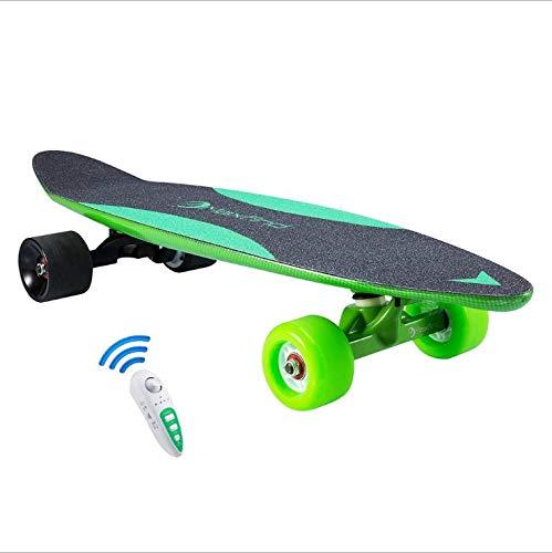 LSXX Elektrische skateboard met afstandsbediening, elektrisch skateboard, draagbaar, voor reizen (20 km/u snelheid, 13 km bereik, snel opladen)