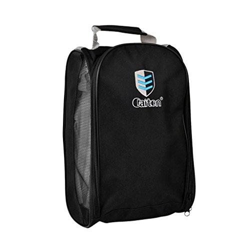 MagiDeal Sac Portable Pour Chaussures Sport Golf Tissu En Nylon Durable Léger - Noir, 32,5 x 21 x 13 cm