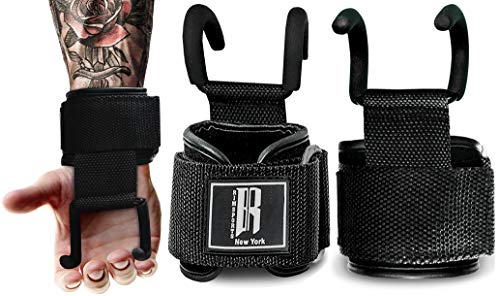 Lifting Hooks For Weight Lifting - Ideal Deadlift Straps with Hooks for Powerlifting - Padded Weight Lifting Gloves With Hooks - Wrist Straps With Hooks For Deadlifts, Pull-ups, Shrugs & Rows
