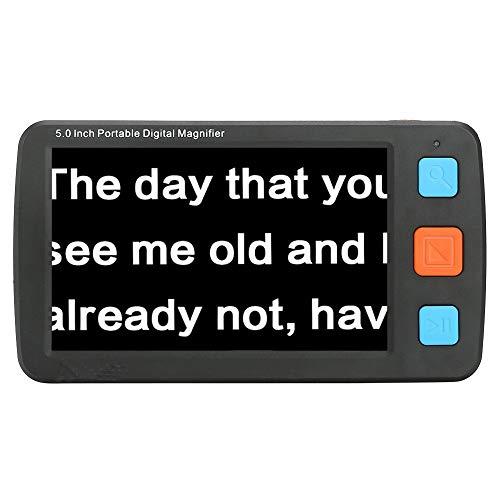 JJCFM 5.0 Pulgadas Portátil Electrónico Lupa, Electrónica Ayudas Visuales, Cámara En Mano Viejo Lector, Aidfor De Mediana Edad Y con Discapacidad Visual Otros Grupos