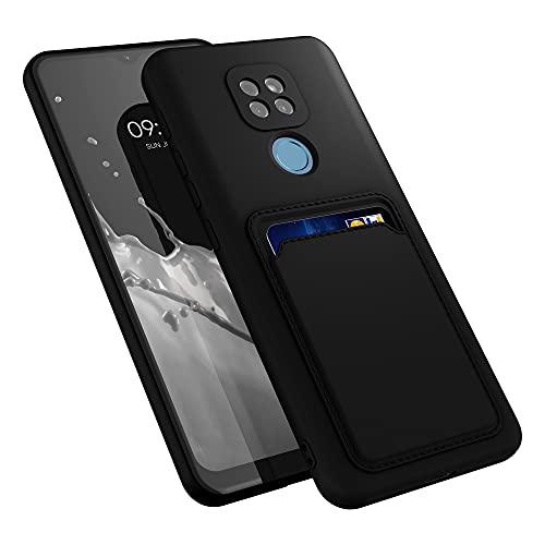 kwmobile Funda con Tarjetero Compatible con Motorola Moto G9 Play (2020) - Carcasa Protectora de TPU Suave - Negro