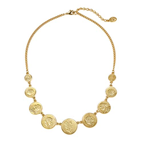 Ben-Amun Jewelry Women's 24k Gold-Plated Moroccan Coins Bohemian Vintage Statement Necklace