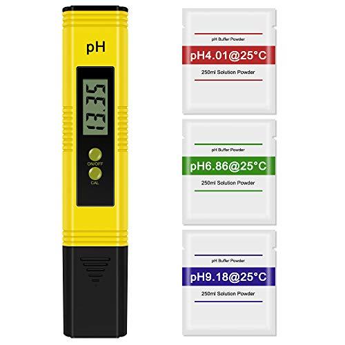 Vegena PH Mètre Numérique, Testeur de qualité de l'eau Digital LCD, ATC/PH Testeur Portable,...