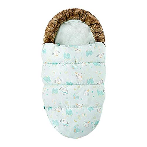 Adesign Baby-Schlafsäcke Twin Pack Multi kaufen Spots & Stripes Design-Unisex Nursery, Anti-Kick Quilt Kinderwagen Schlafsack (Color : D)