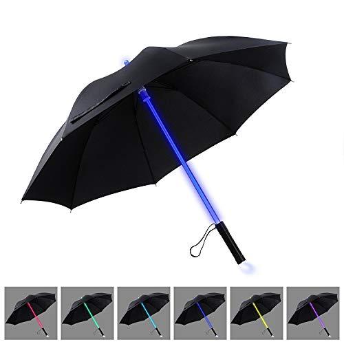 YIER LED Stick Umbrella Lightsaber Light Up Umbrella 7 Color Changing Golf...