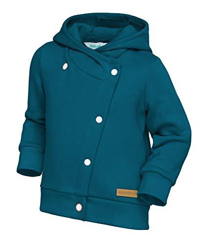 Bubalove Jacke mit Kapuze und Knöpfe Baumwolljacke Frühling Herbst Kapuzenjacke Warme Kleidung Kinder Baby Outwear Unisex Mädchen Jungen 80-158 cm (Marine Blue, 104-110 cm)