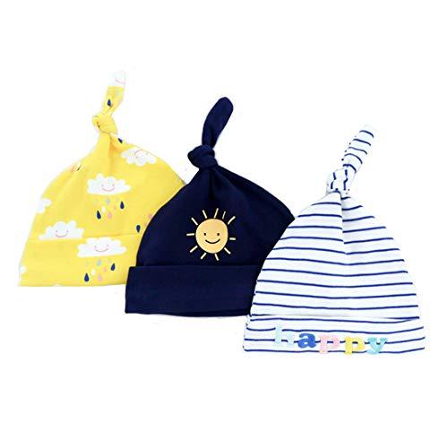 Casa 3 unids bebé recién Nacido algodón Sombrero Infantil...