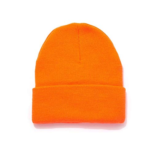 HOT SHOT Mens Acrylic Cuff Knit Hat  Blaze Orange Outdoor Hunting Camouflage