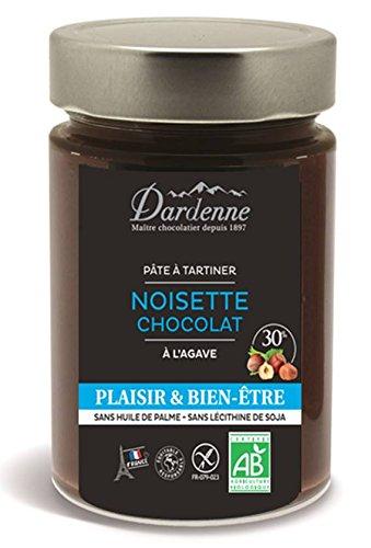Dardenne Plaisir/Bien Etre Pâte à Tartiner Noisettes Chocolat à l'Agave 300 g - Lot de 2