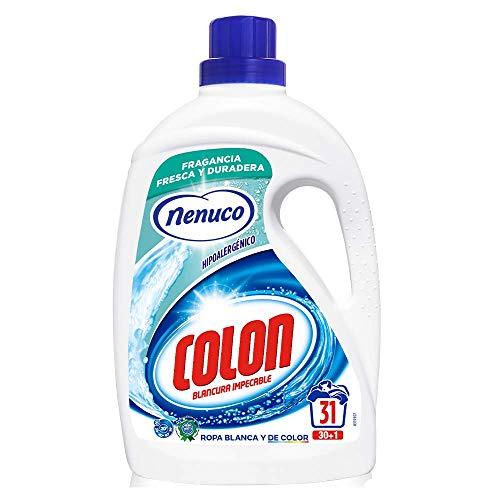 Colon Detergente para Ropa Líquido Hipoalergénico Fragancia Nenuco - 31 dosis, 1612 ml