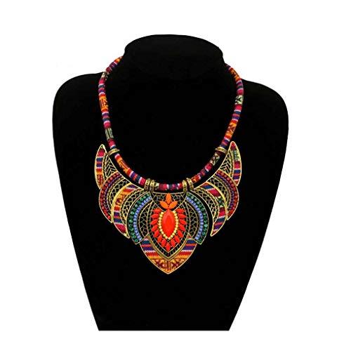 Mujeres geométrico Tribal Regalo de la joyería Collar Femenino del Rhinestone de Bohemia Collar Gargantillas