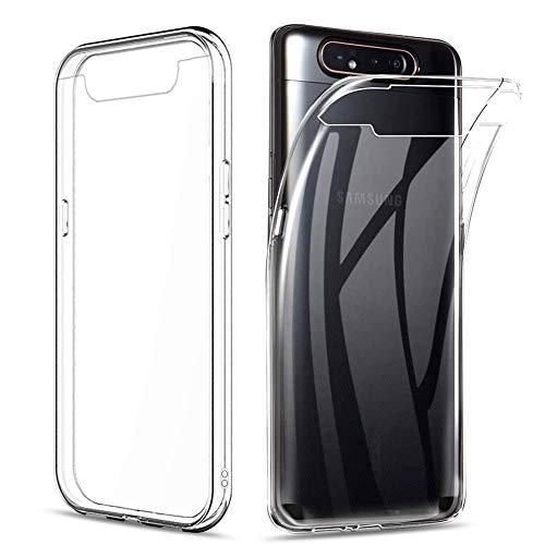 Amonke Handyhülle für Samsung Galaxy A80 - TPU Silikon Transparent Hülle Stoßfeste, Ultra Klar Thin Slim Soft Anti-Scratch Hülle Cover Durchsichtige Handytasche Schutzhülle für Samsung Galaxy A80
