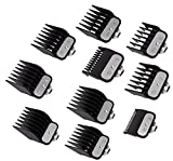 Clipper Guards Cutting Guides for Wahl Clipper with Metal Clip – From 1/16 Inch to 1 Inch, Fits All Full Size Wahl Clippers, (Pack of 10)