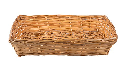 5 x Honey Natural Wicker Bread Basket Storage Hamper DisplayTray