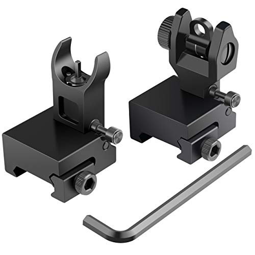 Best flip up sights - Feyachi Flip Up Rear Front and Iron Sights Best Backup fits Picatinny & Weaver Rails Black
