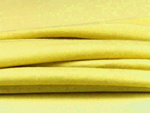 Dormisette, Q371, elastisch jersey-hoeslaken met elastaan, afmetingen: 90 x 190-100 x 200-220 cm, zonnegeel