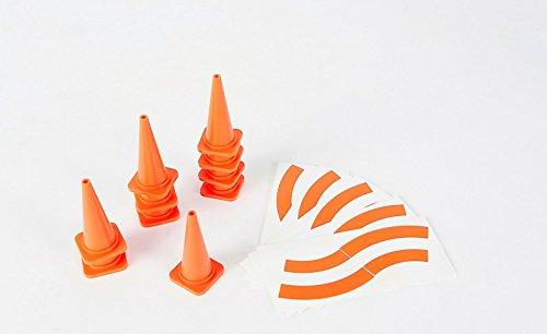 Carson 500907197 Lot de 10 pylones Orange 56 mm