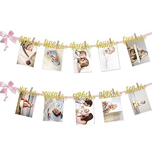 12 Month Photo Banner, First Birthday Decoration, Photo Banner for First Birthday Party