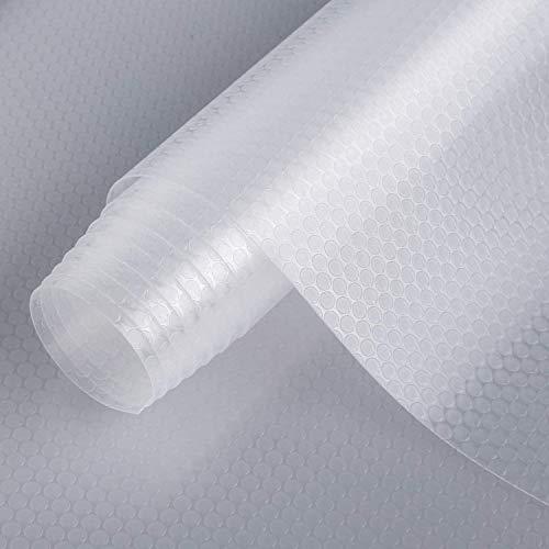 Alfombrilla para cajón de cocina Shelf Liner, revestimiento de EVA no adhesivo, para nevera, impermeable, duradero, manteles individuales para armario, forro de cajones (transparente, 30 cm x 1000 cm)