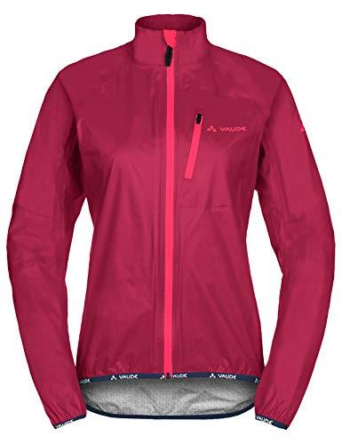 VAUDE Damen Drop Jacket III Regenjacke für Radsport, crimson red, 40, 049649770400