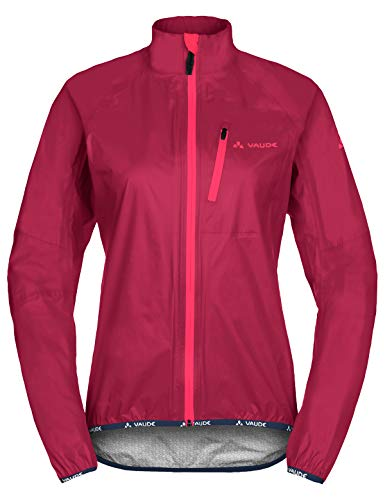 VAUDE Damen Drop Jacket III Regenjacke für Radsport, crimson red, 40, 049649770400