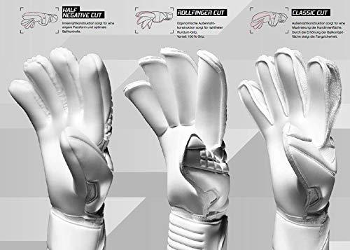 uhlsport Torwarthandschuhe Next Level-Supersoft-In den Größen 6-11 Innenhand Keeper-Handschuhe entwickelt mit Profis-Optimaler Halt und Grip, langlebig-Marine/Fluo rot, 7 - 8