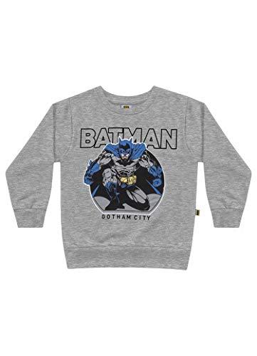 Blusa Moletom Batman, Fakini, Meninos, Cinza,1