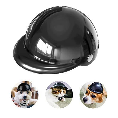 PEDOMUS Hunde Helm Hundekappe Hundehelm Haustier Helm für Hunde Katze Einstellbare Kappe Medium