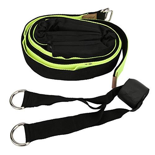 Gonnely Correas-Back Bend Trainer Cinturón de Estiramiento de Yoga Entrenamiento para Principiantes Suministros auxiliares Correa de tracción Verde Negro