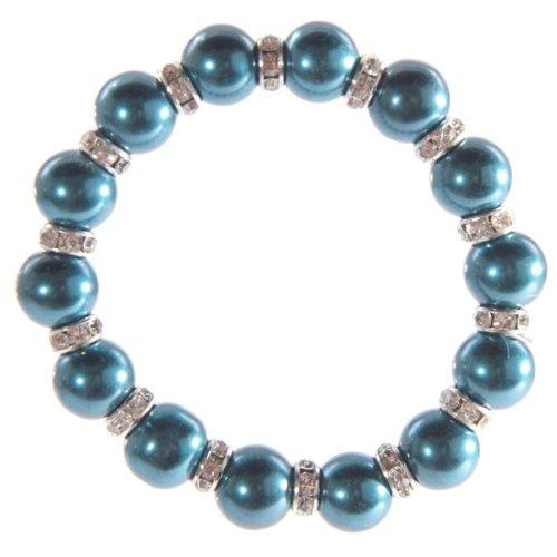 Fish Around Faux Cobalt Blue Pearl Bracelet