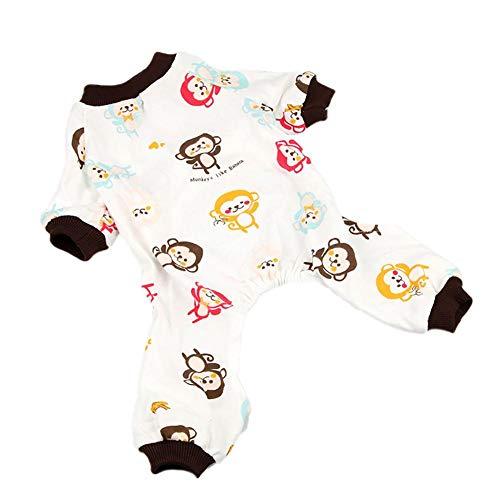 Mackur Hund/Katze Pyjama Haustier vierbeinigen Butler schöne Einteilige komfortable Klimaanlage Pyjama Print Design weichen Vier Jahreszeiten Haustier Pyjama Mantel -XL-Code