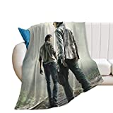 Rick Grimes and Carl Ultra-Soft Micro Fleece Blanket Air Conditioning blanket50 X40