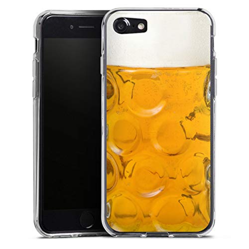 DeinDesign Silikon Hülle kompatibel mit Apple iPhone SE (2020) Hülle transparent Handyhülle Bier Glas Oktoberfest
