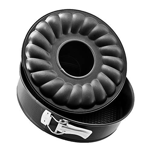 Zenker 3433 - Molde para bizcocho con Dos Base extraíble (30 cm), Color Negro