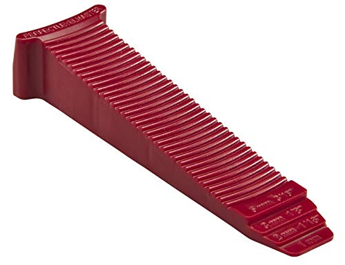 T-Lock - 100 red wedges PERFECT LEVEL MASTER - Professional Anti lippage Tile leveling system - (white T-Lock clips spacers not included and sold separately) by Tile Master