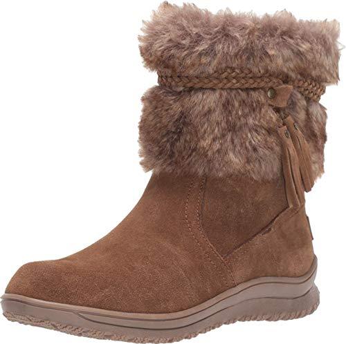 Minnetonka Women's Everett Faux Fur Slip-On Suede Boots 11 M Dusty Brown
