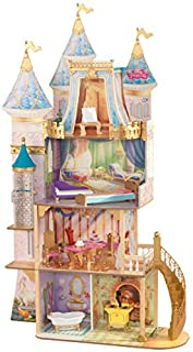 KidKraft KidKraft Disney Princess Royal Celebration Wooden Dollhouse with 10-Piece Accessories and Bonus Storybook Foldout...