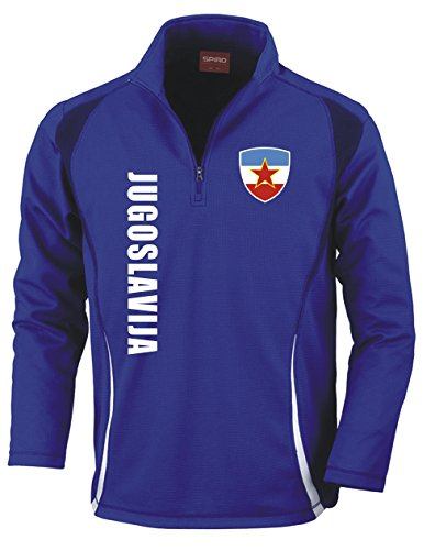 Aprom-Sports Jugoslawien Trainingstop - Fussball Sport - Blau (L)
