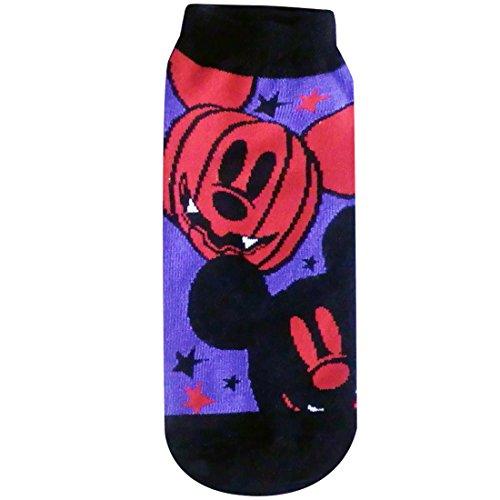 ディズニーソックス ミッキーマウス かぼちゃ パープル・ブラック イエロー 22cm~24cm AWDS3740