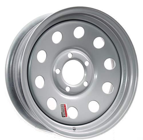 Trailer Rim Wheel 13 in. 13X4.5 5 Lug Hole Bolt Wheel Silver Modular Design