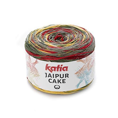 Katia Jaipur Cake Fb. 401, Lace Bobbel Cotton Fil de dégradé de couleurs pour tricoter et crocheter 200 g environ 1100 m