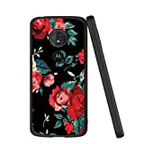 Yoedge Motorola Moto G6 Play Case, Black Silicone with