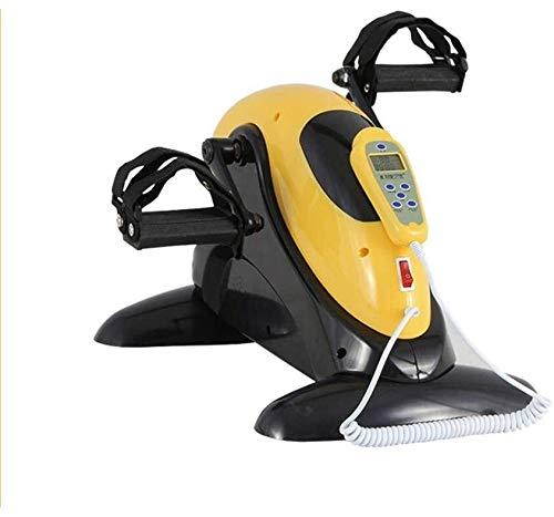 Mini Heimtrainer, elektrische Pedal Exerciser, Stationär Übung Bein Hausierer kann Ihnen helfen, stärken Arme und Beine, 4 einstellbare Geschwindigkeitsstufen und 60 RPMs ein effektives Training zu he