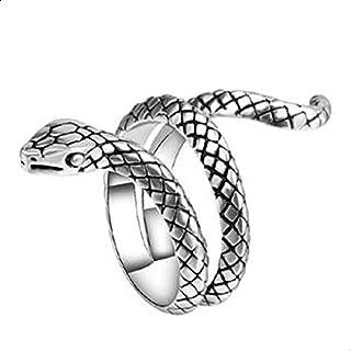 خواتم الثعبان للنساء المعادن الثقيلة Punk Rock Ring Vintage