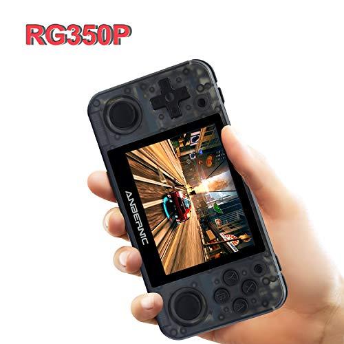 Consolas de Juegos Portátil , RG350P Consola de Juegos Retro Game Console OpenDingux Tony System , Free with 32G TF Card Built-in 2500 Juegos, 3.5 Pulgadas IPS Videojuegos Portátil HDMI Output