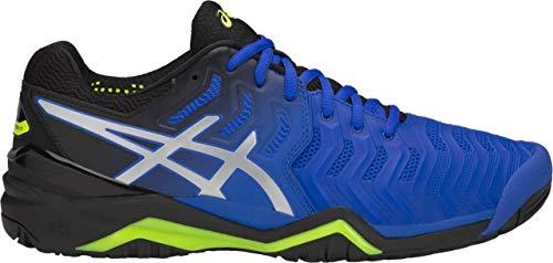 ASICS Gel-Resolution 7 Men's Tennis Shoe, Illusion Blue/Silver, 10 D US
