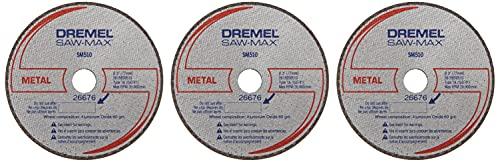 Dremel SM510c 3-Inch Metal Cut-Off Wheel, 3-Pack , Black