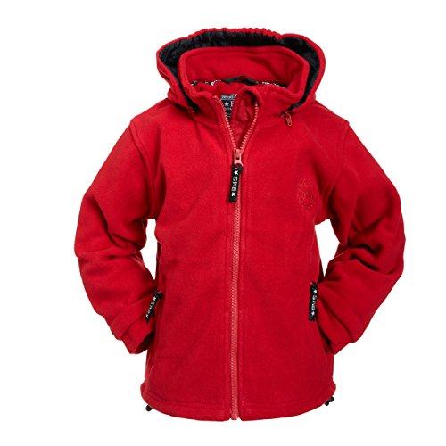 BMS Fleecejacke mit Abnehmbarer Kapuze, Rot, Größe 104